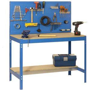 ETABLI - MEUBLE ATELIER Établi 'BT-2 1500 tiroir métallique' Bleu-bois 14
