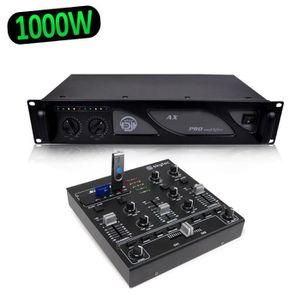TABLE DE MIXAGE SkyTec STM-2250 Mini table de mixage 4 canaux USB