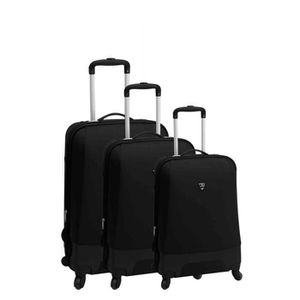 SET DE VALISES Set de 3 valises 4 roues bi-tone robust noir