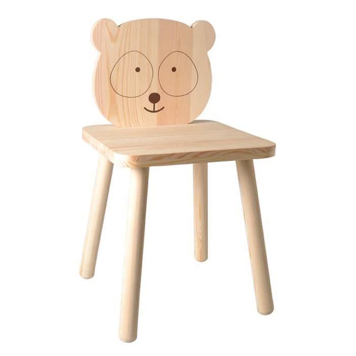 Chaise en bois Panda Adorable - Artémio Beige