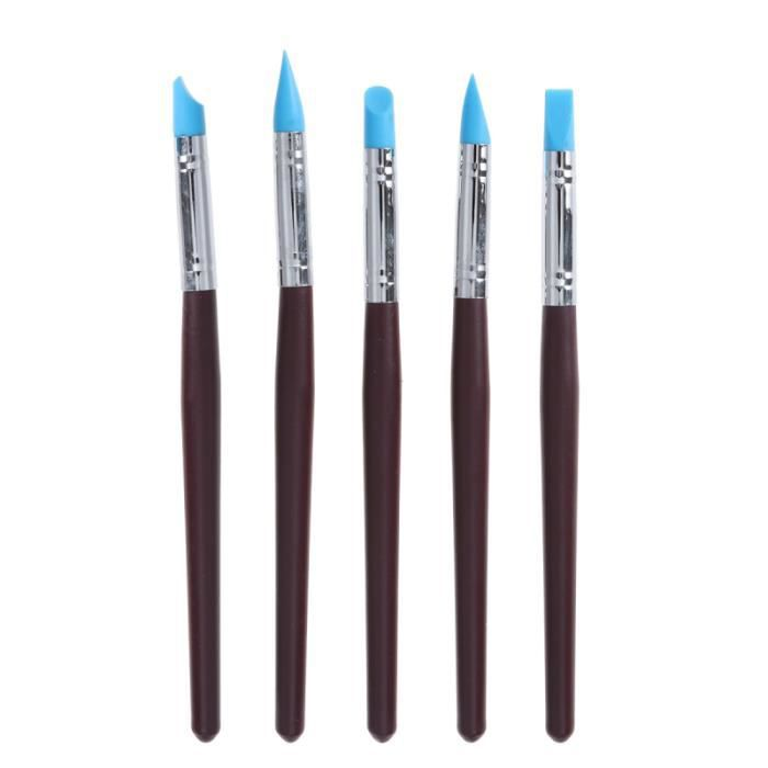 5pcs Artiste Pinceau Set Facile à nettoyer argile couleur Shapers pour la sculpture d'argile Sculpting PINCEAU - SET DE PINCEAUX