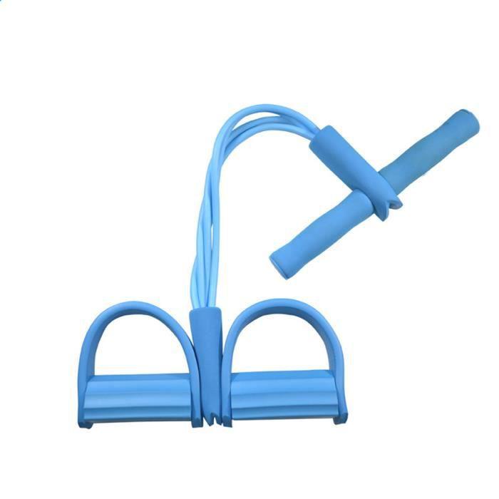 zoeyy®Bandes de Résistance Corde élastique Multifonctionnelle Sit-up Physique Gym Fitness-bleu