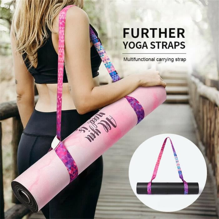 Réglable Yoga Tapis Sling Carrier Épaule Porter Sangle Sangle Ceinture Exercice D'exercice DS403