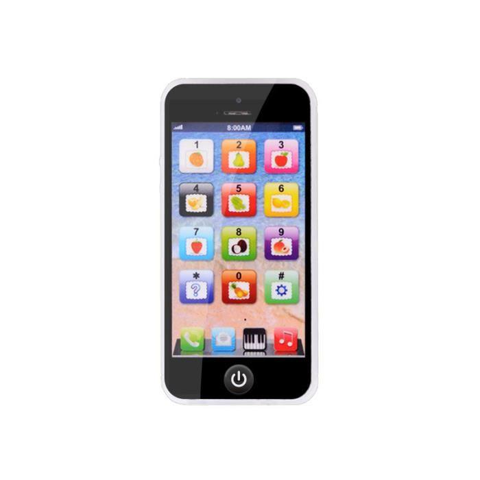 Téléphone Jouet enfant ,Tactile jouet éducatif pour enfants - Noir