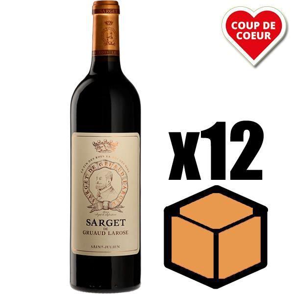 X12 Sarget de Gruaud-Larose 2016 75 cl AOC Saint-Julien 2ème Vin Vin Rouge