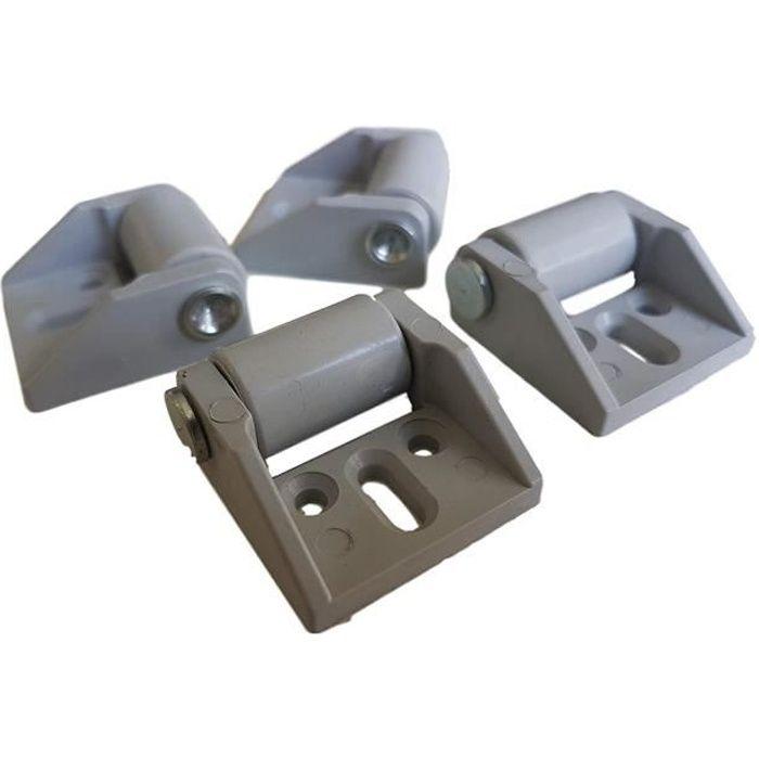 Lot de 4 Mini-Roulettes en Caoutchouc 16 mm avec Axe en Plastique et Plaque Métallique pour Meubles Appareils Électro-Ménagers et