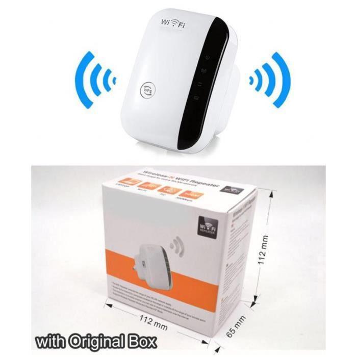 Amplificateur WiFi sans fil 300Mbps Répéteur Wifi 802.11N / B / G Amplificateur Wi-Fi Blanc