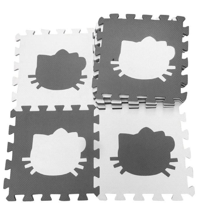 Tapis d'éveil,Tapis de jeu Marjinaa 10-20 pièces gris blanc bébé EVA mousse puzzle-tapis de sol d'exercice - Type huibaiKT-10PCS