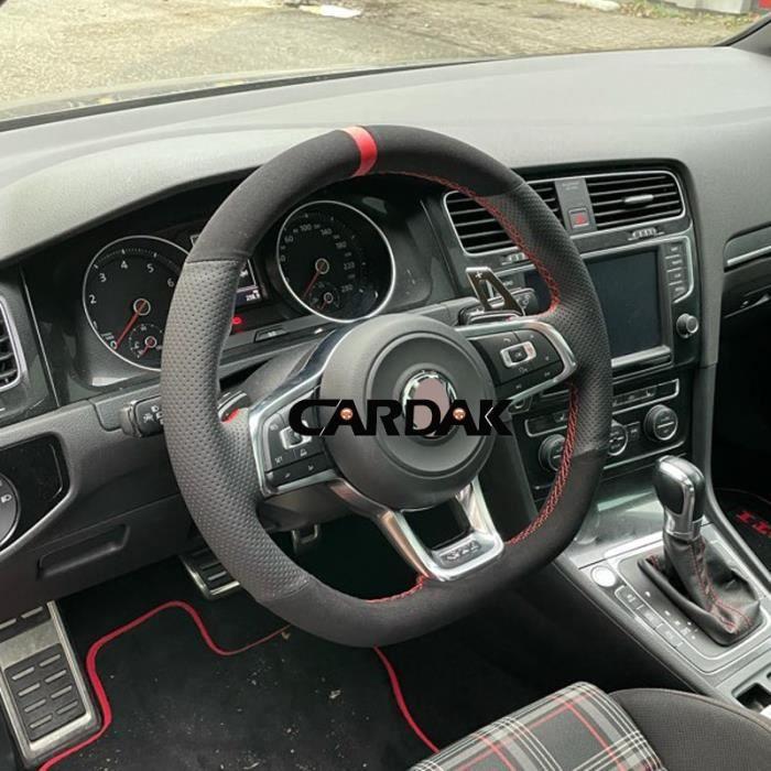 Couvre volant,CARDAK – housse de volant de voiture en daim, pour Volkswagen Golf 7 GTI R MK7 VW Polo GTI Scirocco 2015 - Type 6