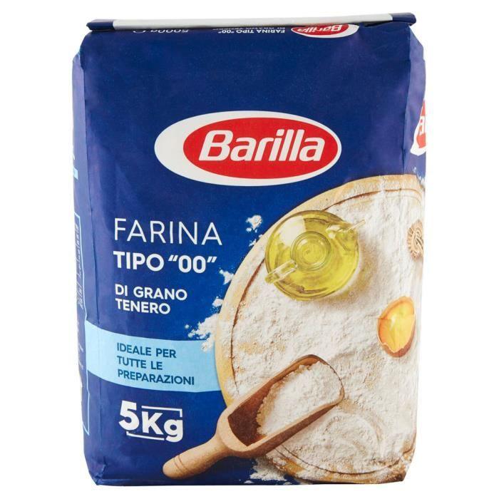 Barilla - Barilla Farine de Blé Tendre Type «00» 5Kg
