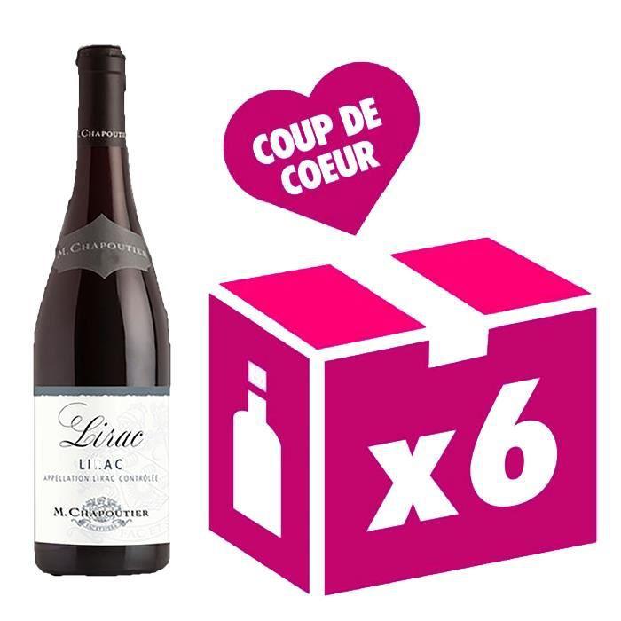 Lirac vin rouge 6x75cl Chapoutier