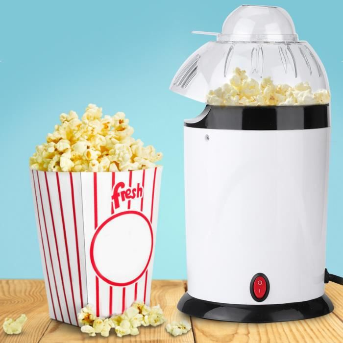 Mini Souffleur Automatique Popcorn Popper Faire Électrique 220-240V EU Blanc-TIP