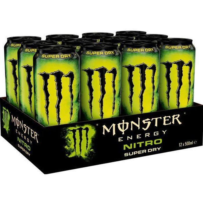 Monster Energy Nitro Super Dry Energy Drink 0,5l (Pack de 12)