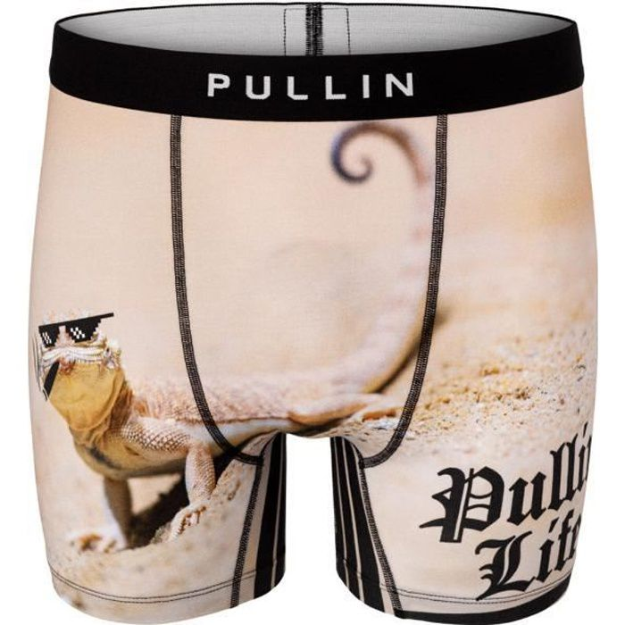 PULL IN Boxer Long Homme Coton Bio PULLINLIFE Beige