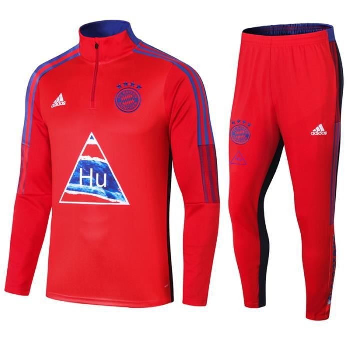 Maillot de Foot Bayern Munich - Maillot de Football Homme Enfants 2021 Ensemble Survêtements - Haut + Pantalon