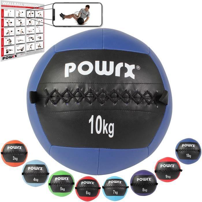 Wall Ball de 2-10 kg couleurs différentes Poids: 10 kg (bleu foncé)