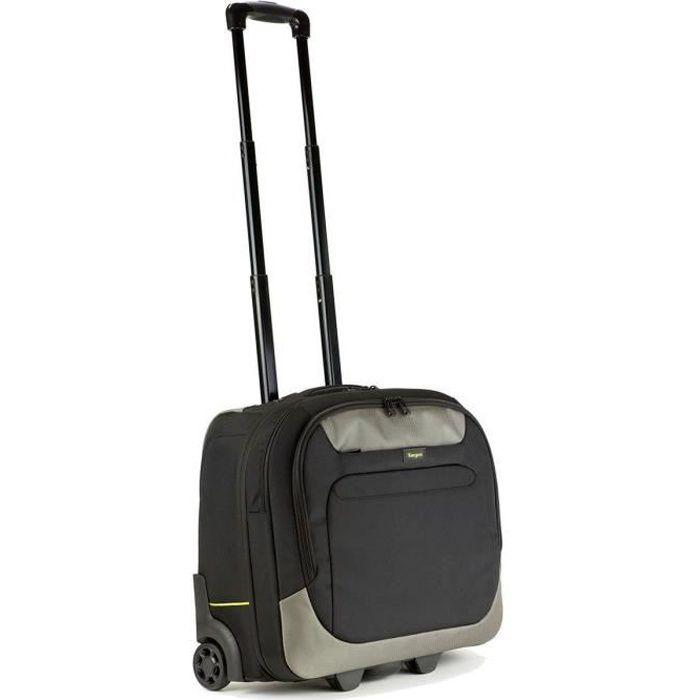 TARGUS Sacoche à roulettes pour ordinateur portable City Gear 17.3- - Noir Gris