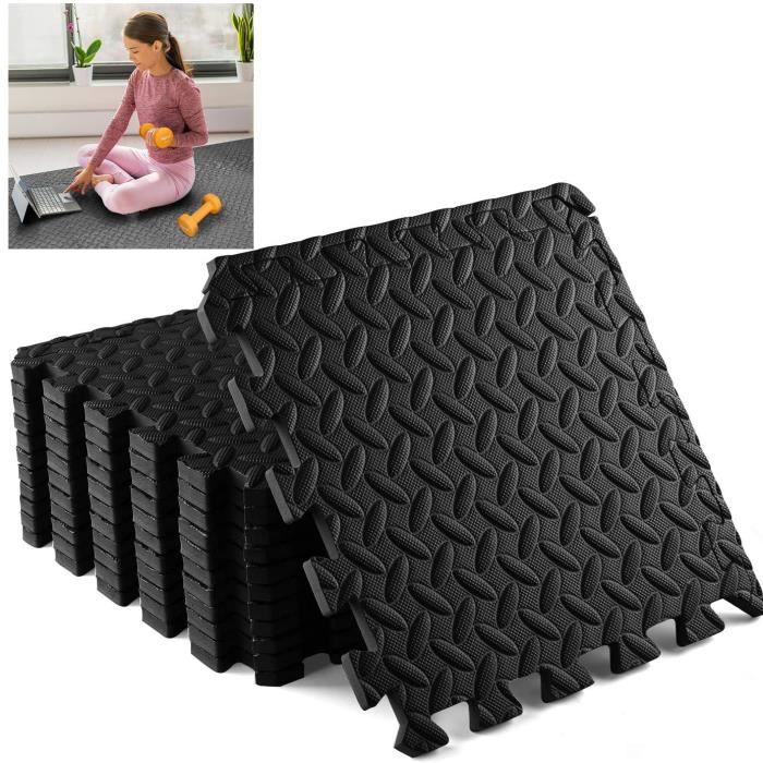 12 Dalles en Mousse 40x40 cm Sport Fitness Musculation Gym