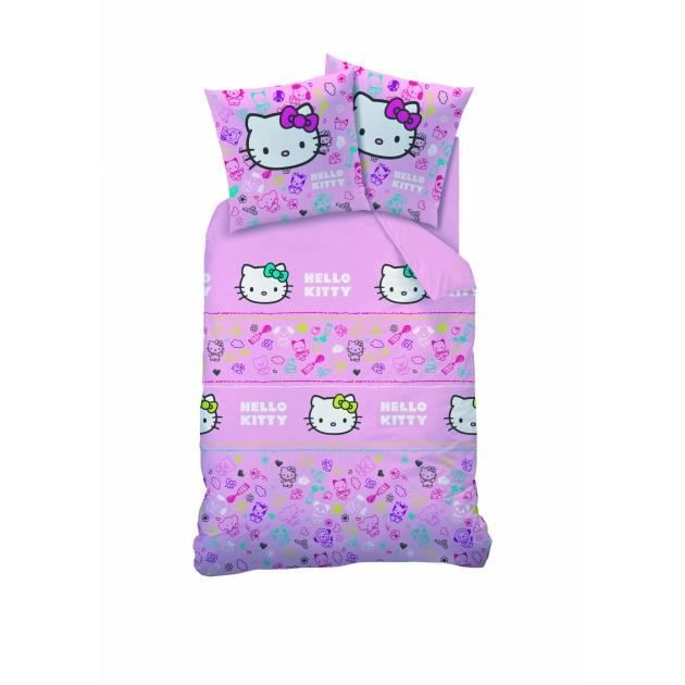 hello kitty parure de lit housse de couette achat vente parure de drap cdiscount. Black Bedroom Furniture Sets. Home Design Ideas