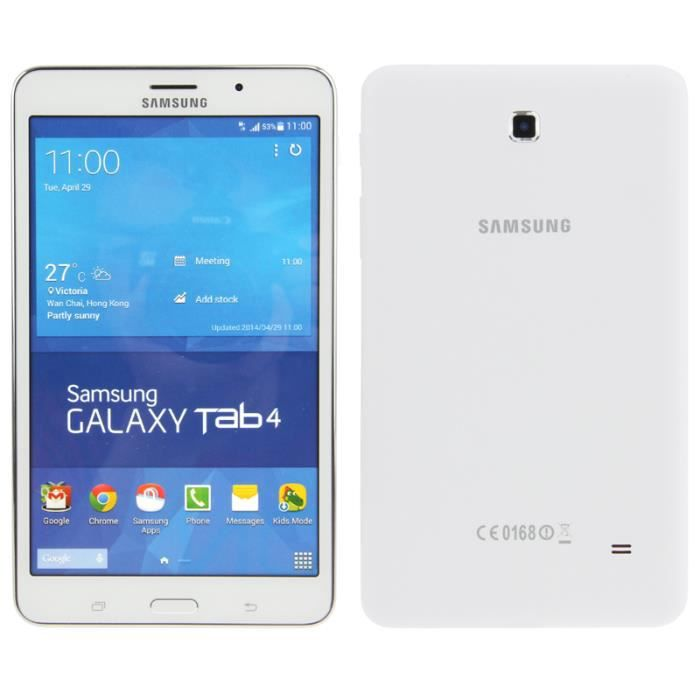 t l phone factice samsung galaxy tab 4 7 0 blanc achat. Black Bedroom Furniture Sets. Home Design Ideas