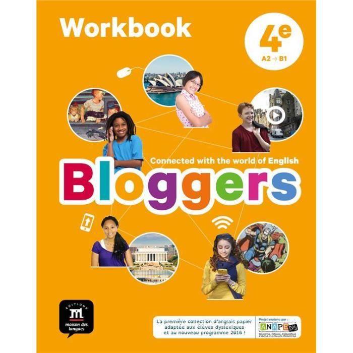 Livre Bloggers Anglais 4e Cahier D Activites
