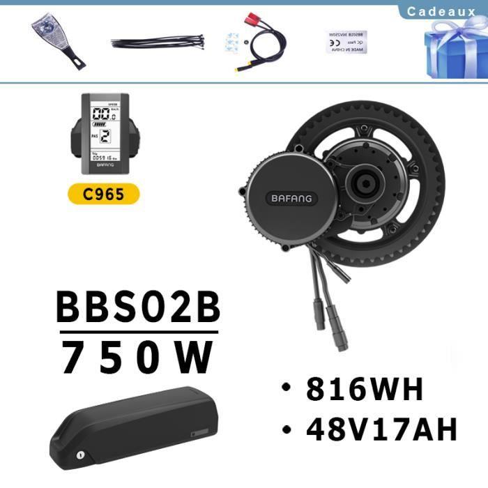 DERUIZ Bafang BBS01B BBS02B BBS01 BBS02 250W 350W 500W Moteur Kit de Conversion de Moteur Electrique Moteur /à Position Centrale avec Batterie au Lithium et Chargeur