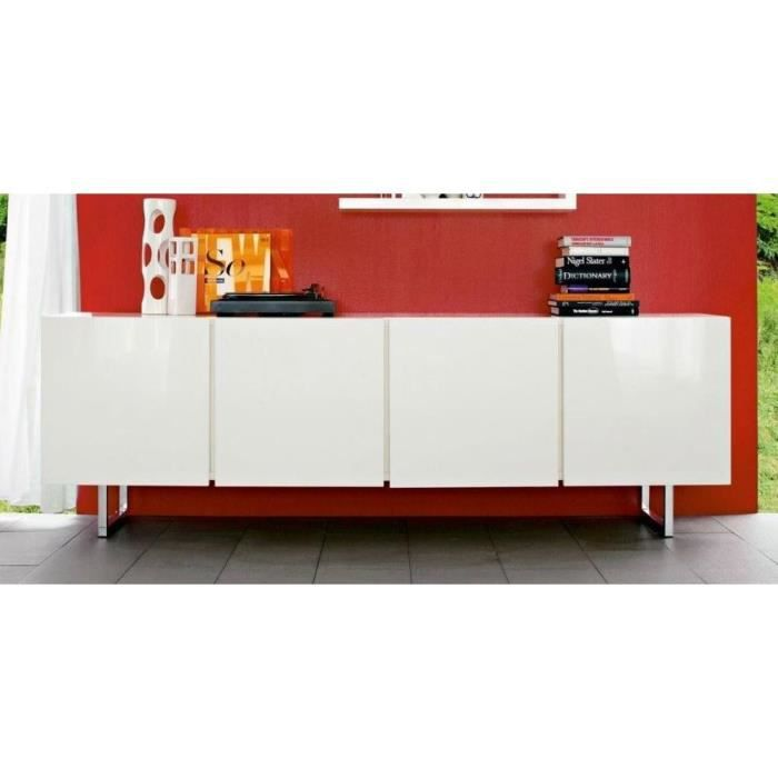 buffet bas design seattle blanc brillant 4 portes de calligaris achat vente buffet bahut. Black Bedroom Furniture Sets. Home Design Ideas