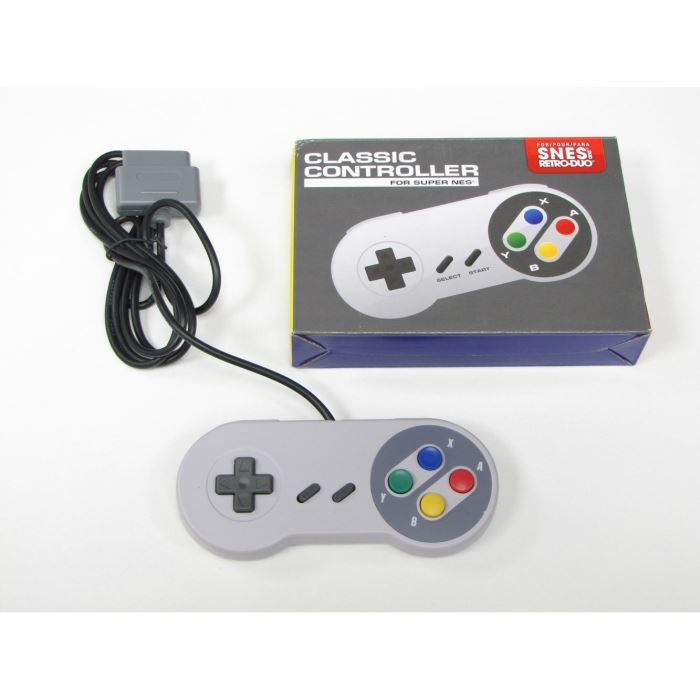 manette pour super nintendo snes prix pas cher cdiscount. Black Bedroom Furniture Sets. Home Design Ideas