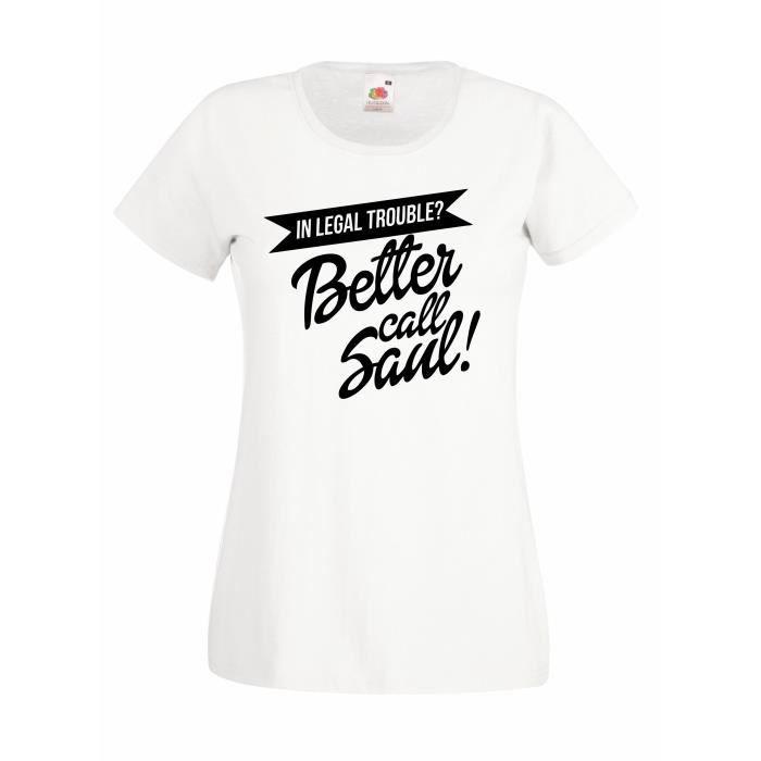T-SHIRT T-shirt  femme Better Call Saul - black logo T-shi