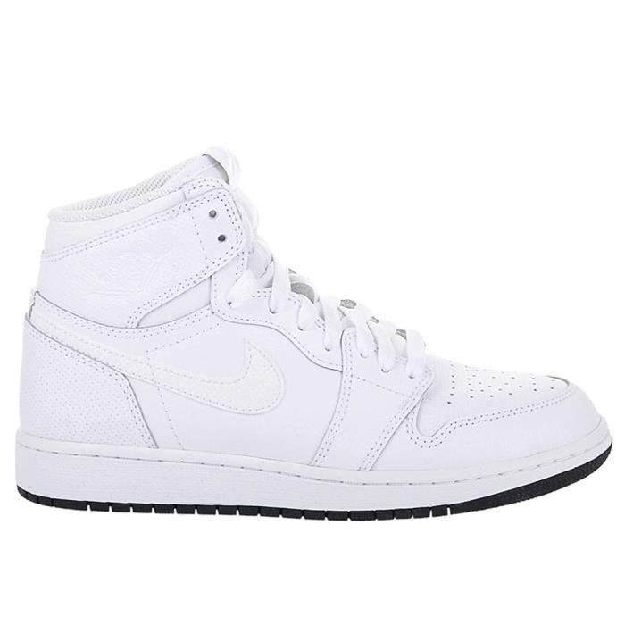 Chaussures Nike Air Jordan 1 Retro High OG BG Blanc Achat