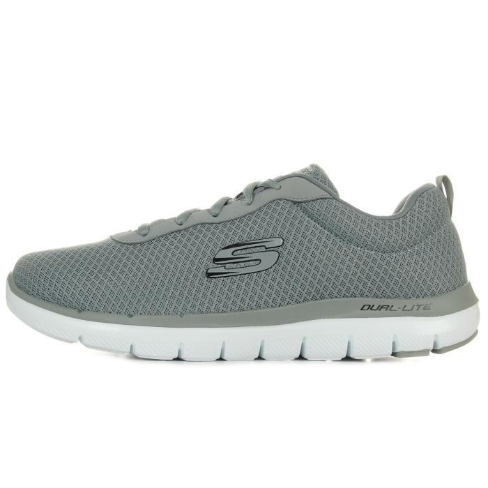 Baskets Skechers Flex Advantage 2.0 Dayshow Gray zV9LAK8