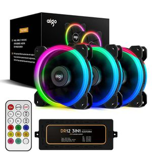VENTILATION  Aigo DR12 PC Cooler Fan 120mm RGB Silencieux venti