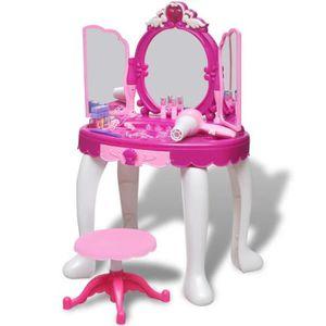 BRICOLAGE - ÉTABLI Coiffeuse de jouet avec lumière-son et 3 miroirs a