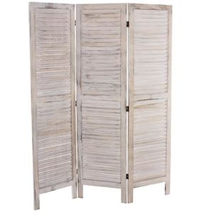 paravent bois blanc achat vente paravent bois blanc pas cher cdiscount. Black Bedroom Furniture Sets. Home Design Ideas