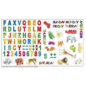 TABLEAU ENFANT lettres et chiffres magnétiques 70 pièces pour le