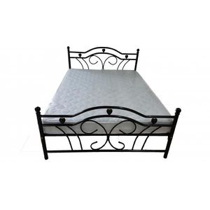 lit en tube acier achat vente lit en tube acier pas cher cdiscount. Black Bedroom Furniture Sets. Home Design Ideas