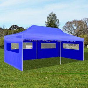 TONNELLE - BARNUM Tente de réception pliable bleue 3 x 6 m tonnelle