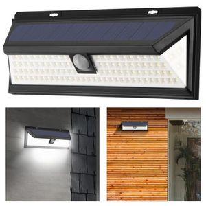 APPLIQUE  Imperméable à l'eau de 102 LED mur lumière solaire