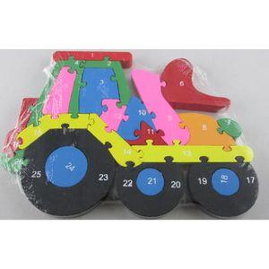 PUZZLE Puzzle en forme de locomotive en bois pour apprend