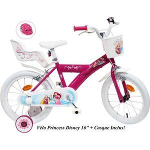 VÉLO ENFANT Vélo 16'' PRINCESS/DISNEY équipé de 2 freins, port
