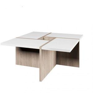 TABLE BASSE Table basse Domino Sonoma Chêne Blanc 80 cm