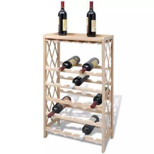 MEUBLE RANGE BOUTEILLE Étagère à vin Casier à bouteilles pour 25 bouteill