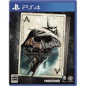 JEU PS4 WARNER HOME VIDEO GAMES Batman Return to Arkham SO