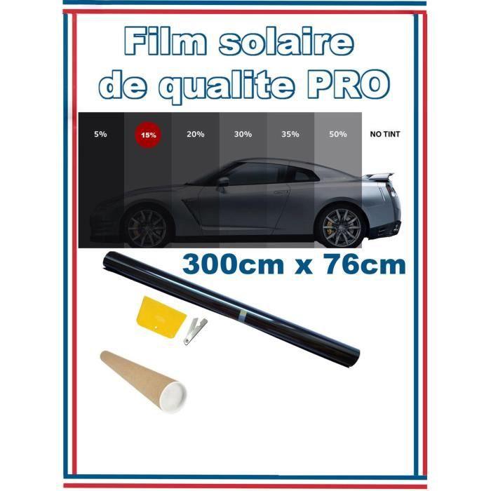 Rouleau De Film Teinté Noir De Haute Qualité 3M x 76cm Teinté 15% VLT Batiment