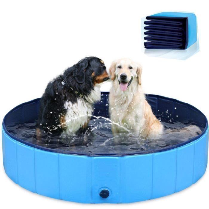30*10cm PVC Piscine Pliable Piscine Baignoire Bassin de Baignade, Piscine pour Chien/Chat Animal,Antidérapant,économiser l'eau - Ble