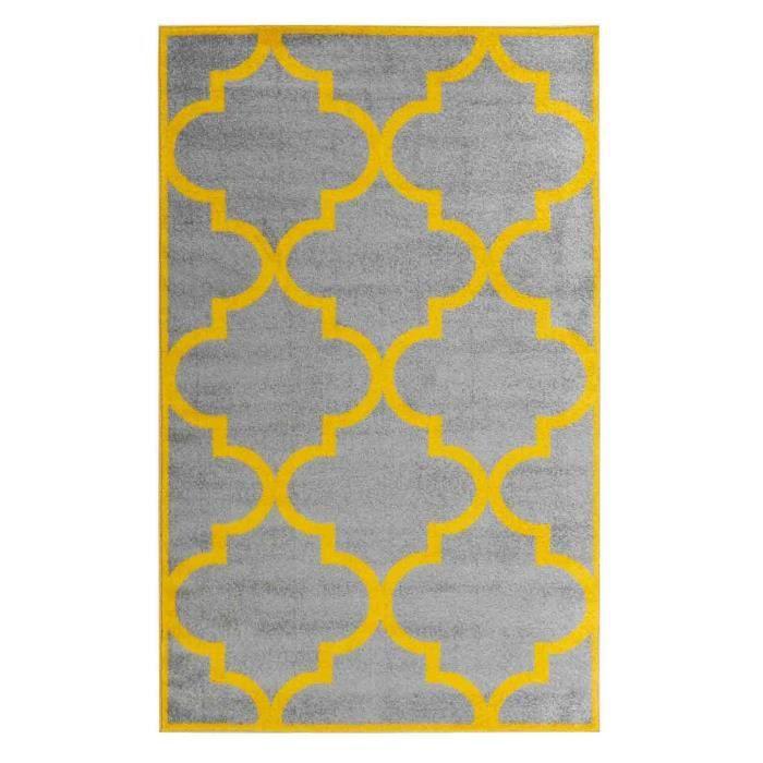 SOFIA Grand tapis de salon moderne - 200 x 280 cm - gris