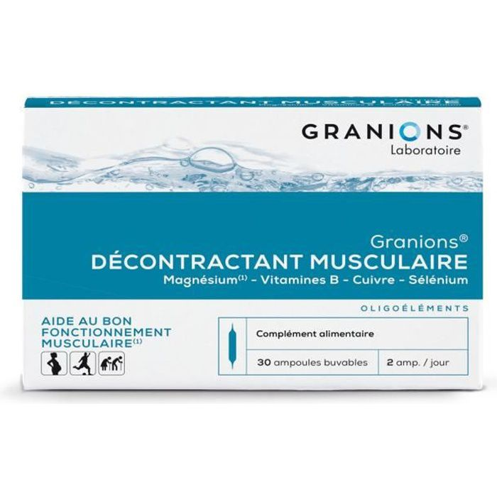 GRANIONS® DÉCONTRACTANT MUSCULAIRE (BTE 30 AMPOULES)