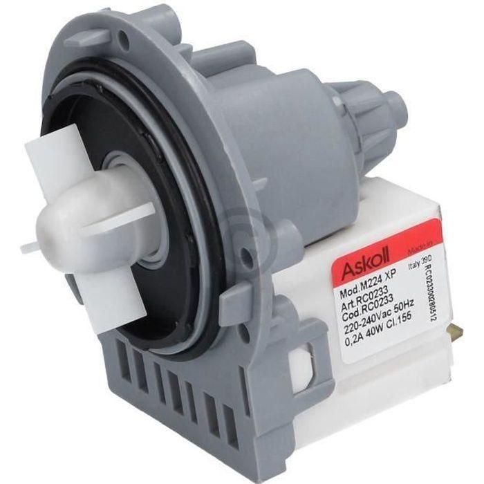 Pompe de vidange universelle pour machine à laver Indesit C00144997 moteur de pompe Askoll