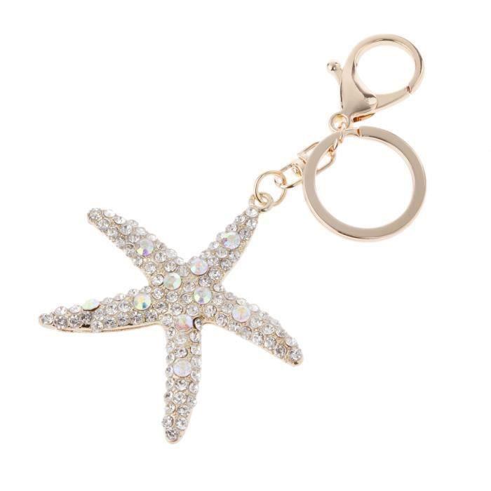 PORTE-CLES - ETUI A CLE Starfish Pendentif porte-clés