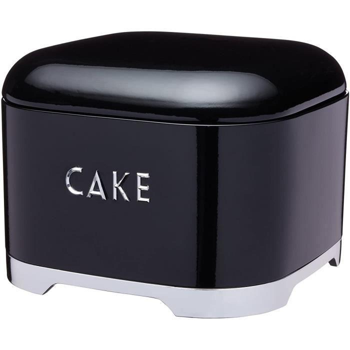 Kitchen Craft LOVCTBLK Lovello Cake Storage Tin 26 x 20 cm 10 x 8 Black Steel[226]